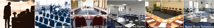 Seminars rooms in Kyriad Campanile Hotels